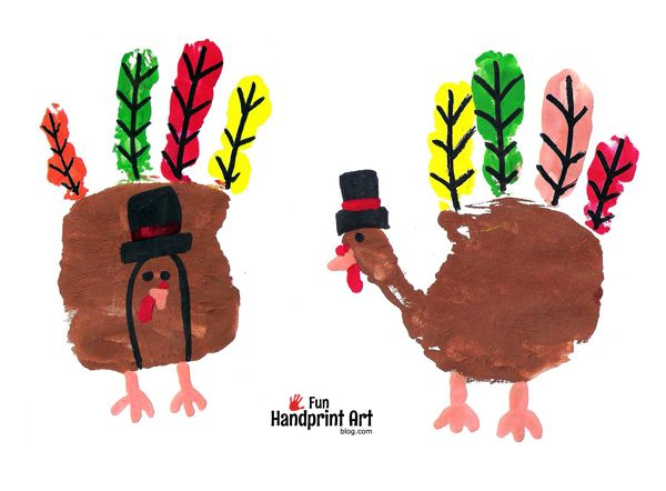 Instead of the usual handprint turkey craft, turn them into Pilgrim Turkeys! Fun for preschoolers, toddlers, and kindergartners!