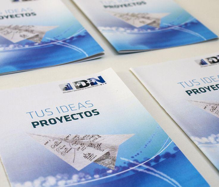"""Diseño de Díptico, proyecto desarrollado dentro del marco de la campaña publicitaria para la empresa IDIN, """"Tus ideas Proyectos"""".. Brochure design , project developed within the framework of the advertising campaign for the company IDIN , """" Your ideas Projects"""" .."""