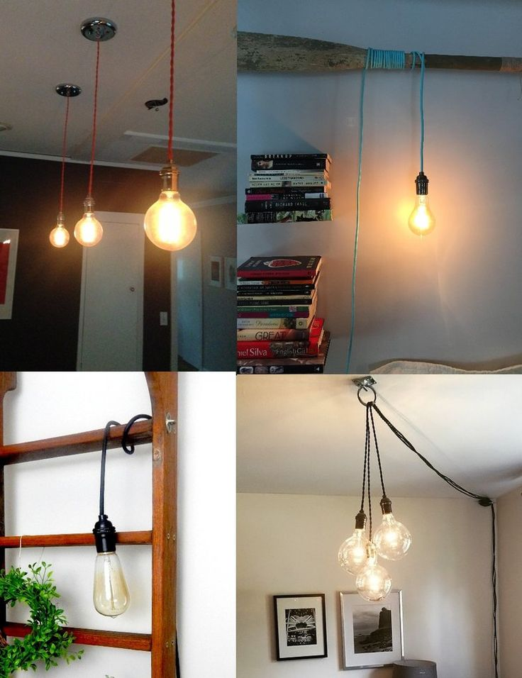 Another DIY lighting materials source Single Pendant