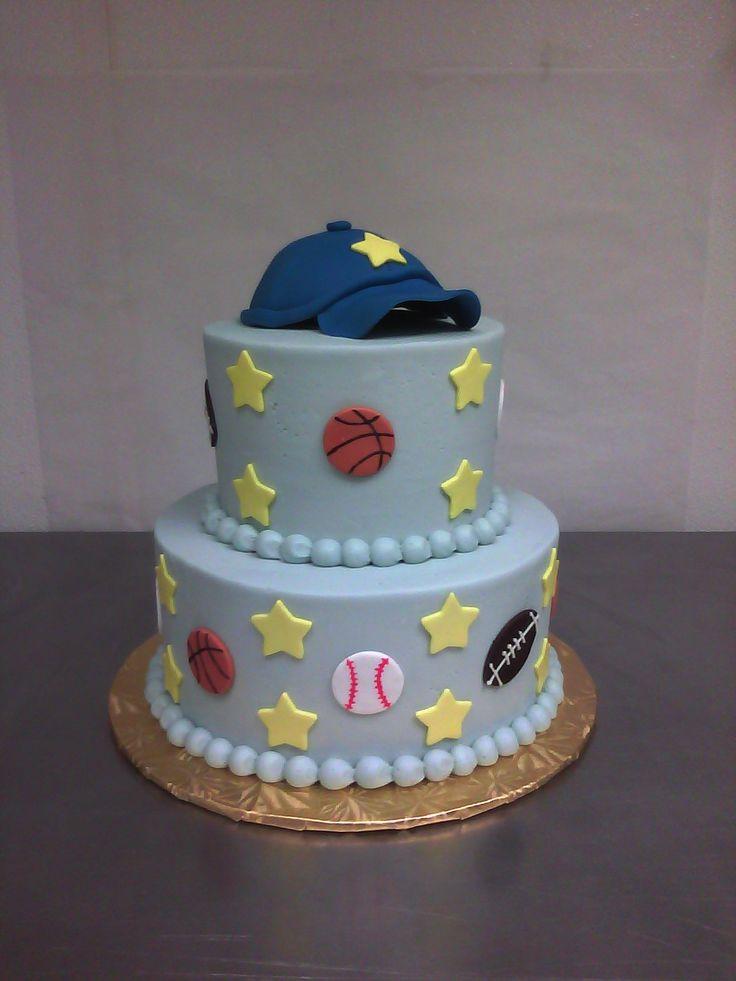 baby boy shower  cakes | Sporty Baby Shower Cake « Main Made Custom Cakes