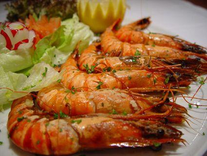 Crevettes au gingembre et au citron vert