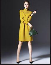 2016 Sonbahar Elbise vestidos Gevşek Uzun Kollu kazak Ince Düz Renk Örgü için aşağı kadınlar için cadılar bayramı kostümleri(China (Mainland))