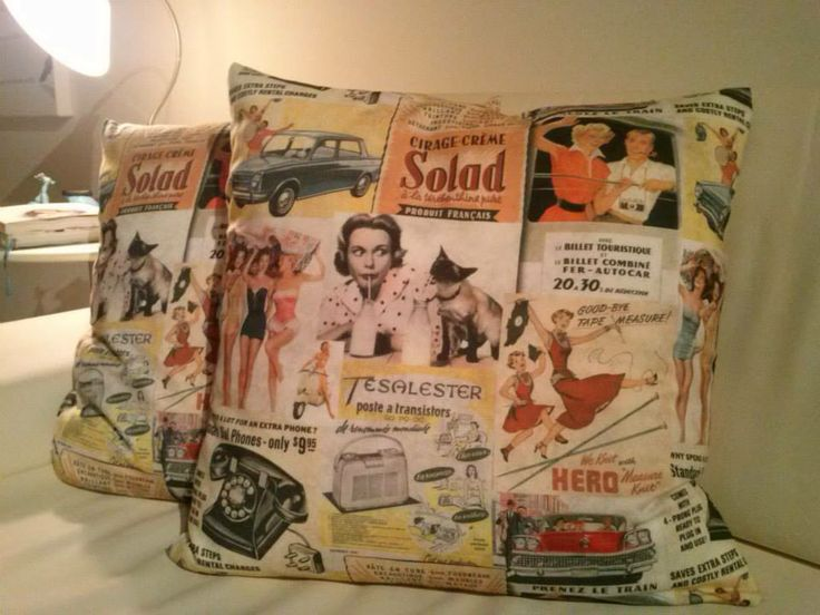 Happy Vintage. 50x50cm. The 40 and 50's colours, for a nice retro house.