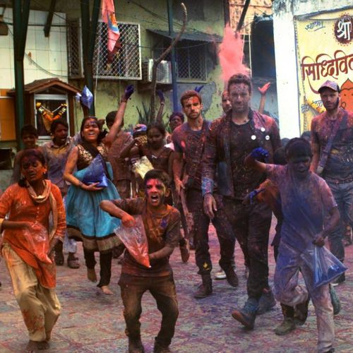 Newest #coldplay video shot in India #AHFOD