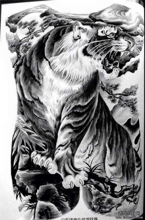 Asian tiger art