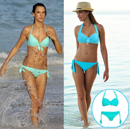 Alessandria Ambrosia In Aqua Bikini Get The Look At Coco Bay Beachwear In Seafolly Goddess