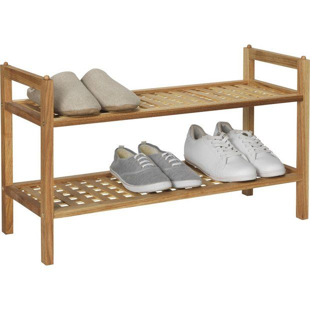 Buy Collection Sherwood 2 Shelf Stackable Shoe Storage - Walnut at Argos.co.uk - Your Online Shop for Shoe storage, Storage, Home and garden.