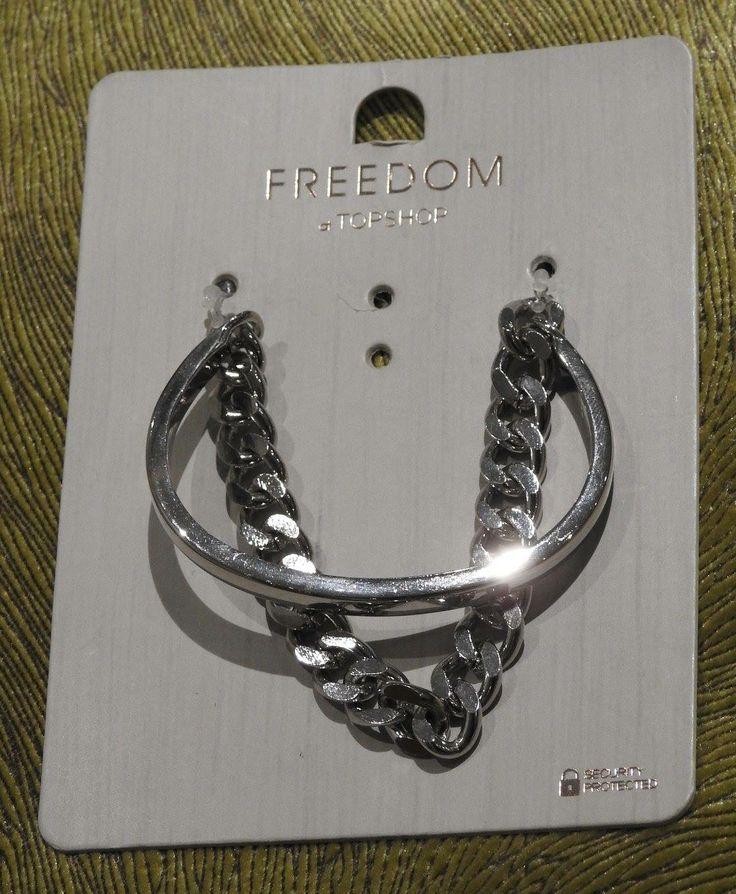 Strieborný náramok, kvalitná bižutéria FREEDOM od Top Shop-u.  Cena: 8 eur