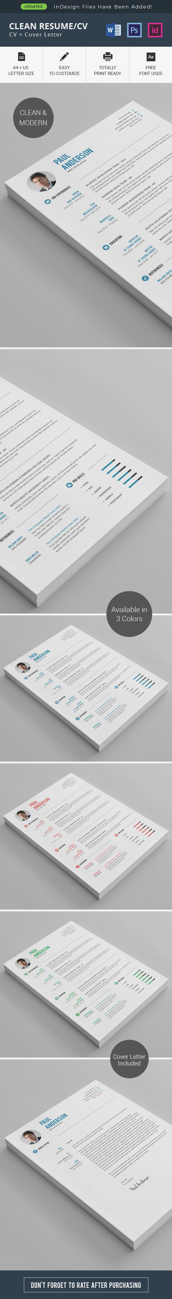 Clean Resume/CV on Behance