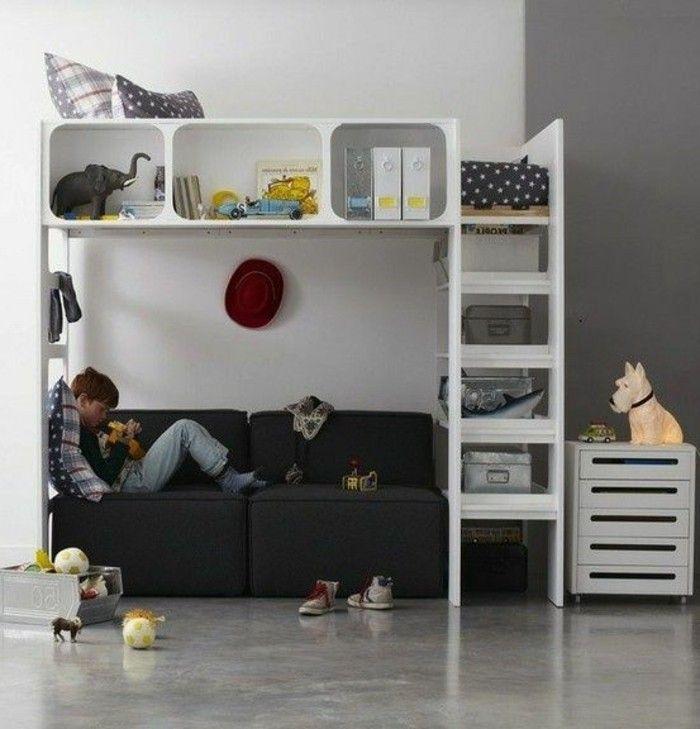 beautiful chambre ado ikea mur double couleur blanc et gris ple with simulation chambre ikea. Black Bedroom Furniture Sets. Home Design Ideas