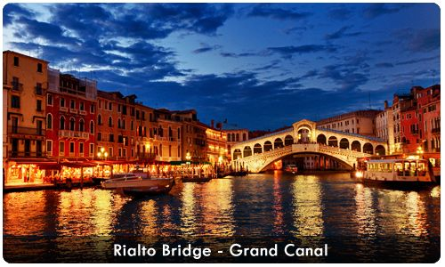 Rialto Brigde-Grand Canal || Call us on +6221 2350 9925 for travel information