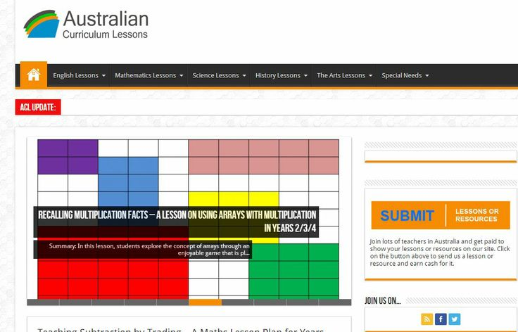 Australian Curriculum Lessons Site. Great ready made engaging lessons with Content Descriptors.