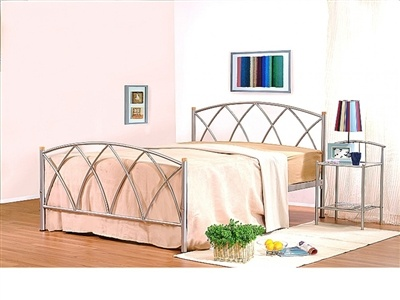£139.00   Very popular metal bed available in Black, White or Silver criss cross design with wood finishes on the end. Up to 70% discount on selcted items. Spend over four hundred and fifty pound and get an extra 5% off. Use discount code PINT5