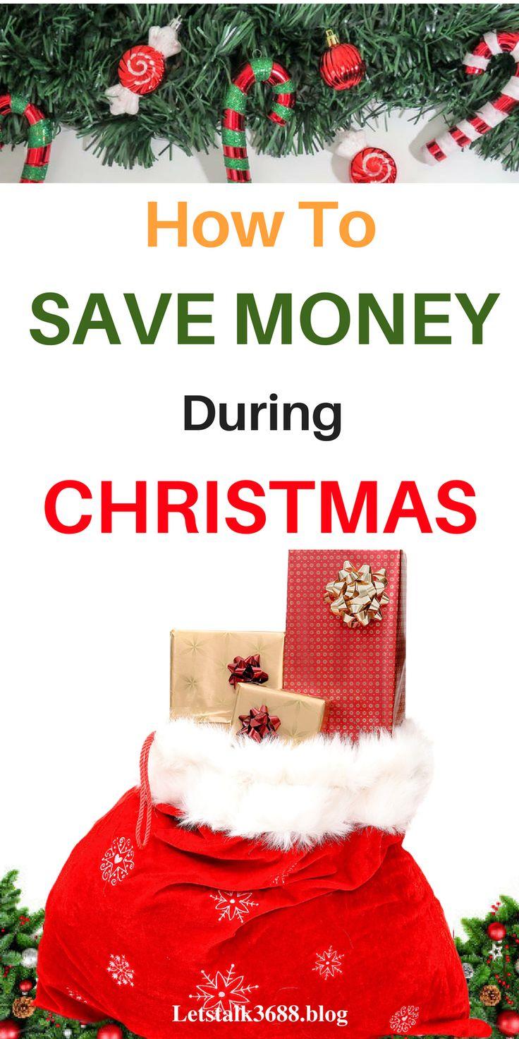Ways to save money this christmas. Save money on christmas shopping. Save money christmas tips.