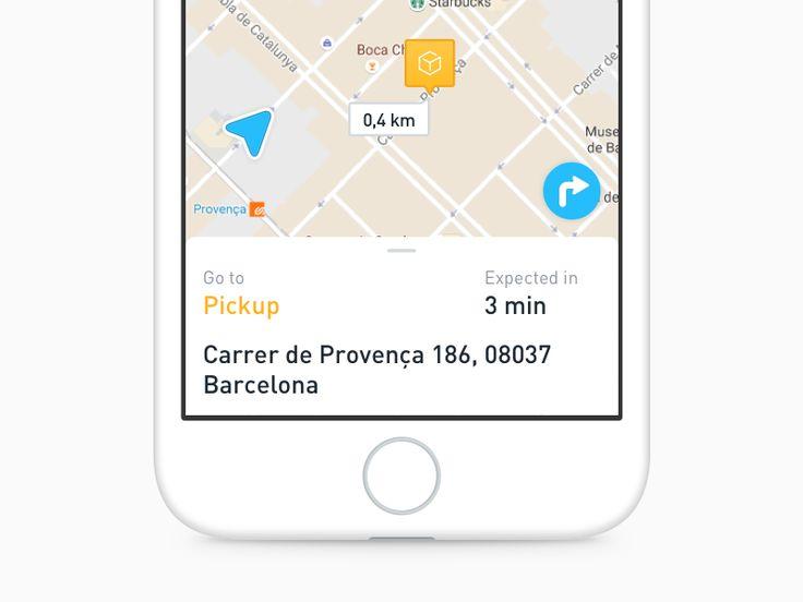Couriers app new design by Albert Ramirez