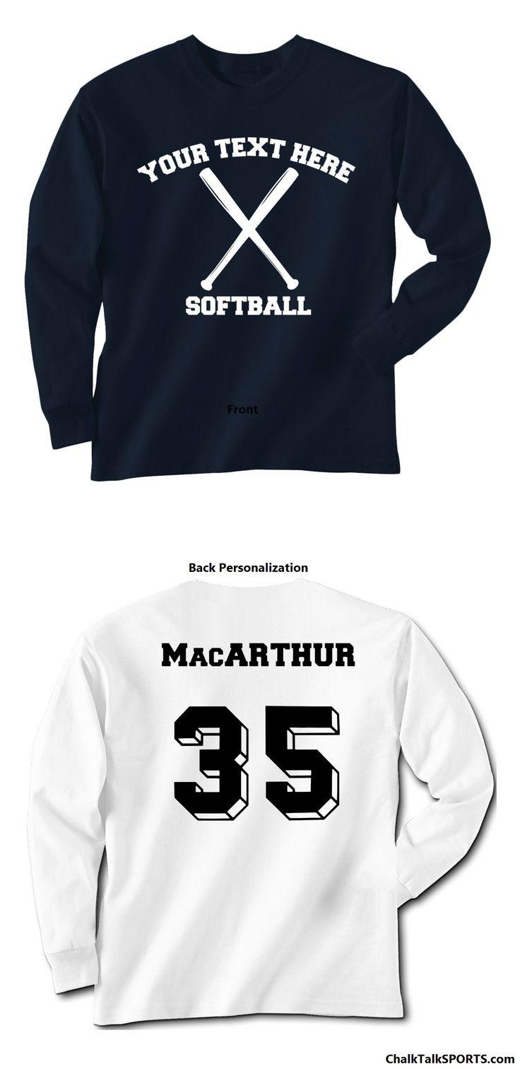 Create Your Own Custom Softball Long Sleeve Shirt Add