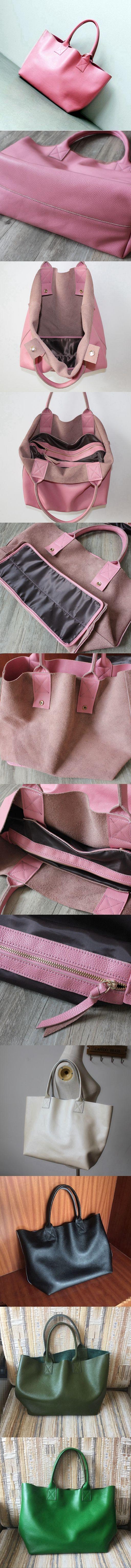 Handmade Full Grain Leather Bag Vintage Leather Tote Bag Shoulder Bag Handbag For Women 7152