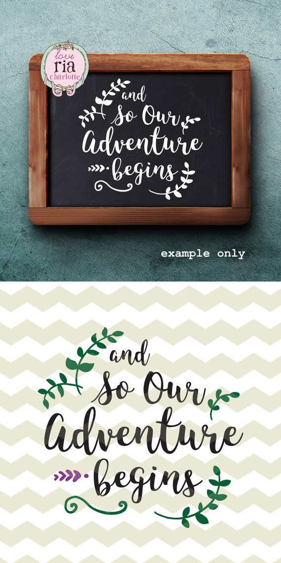 And so our adventure begins wedding love sign by LoveRiaCharlotte