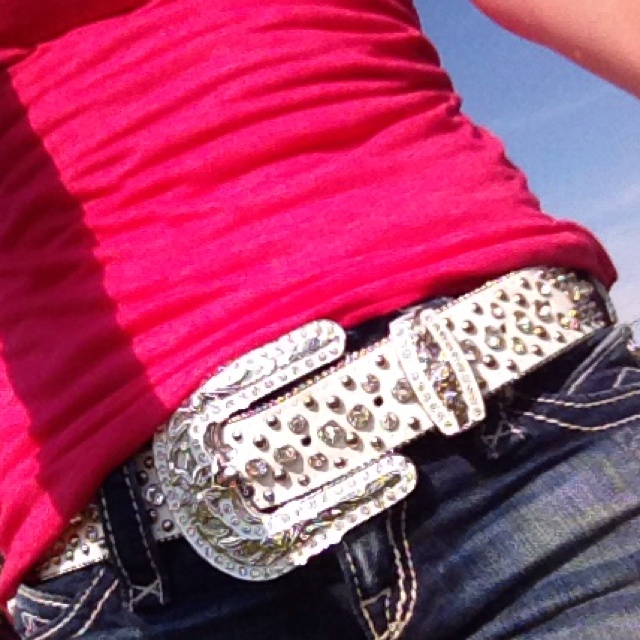 Bling belt(:with jeans @Danielle Lampert Hoffman I swear this belt was made for ya :P