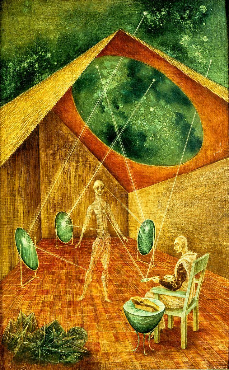 Creación con Rayos Astrales, 1955. – Remedios Varo Remedios Varo