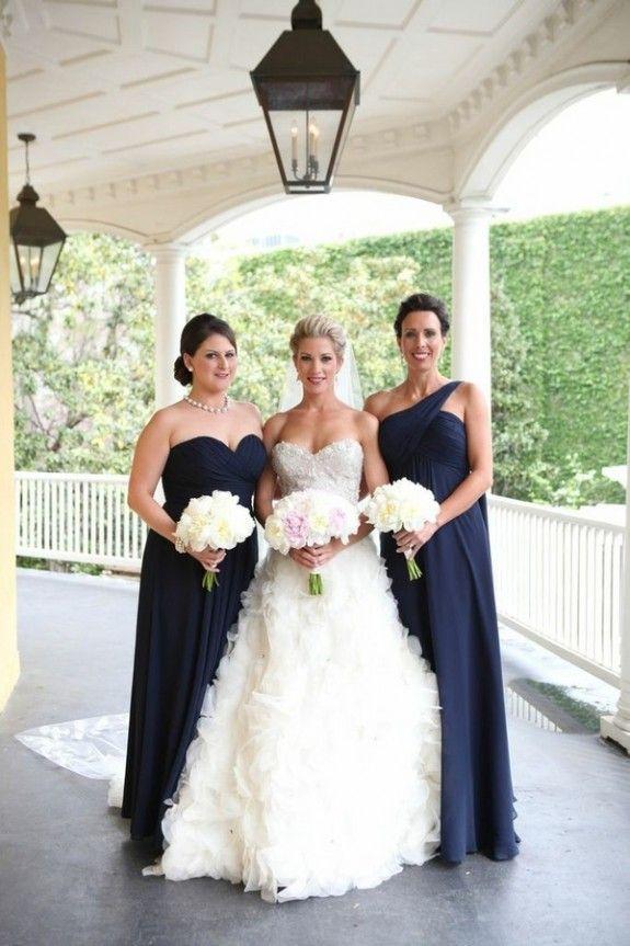 Charleston Weddings – William Aiken House – Southern Protocol – Jennifer Bearden – Pink & Navy - Coastal - bridesmaids dresses
