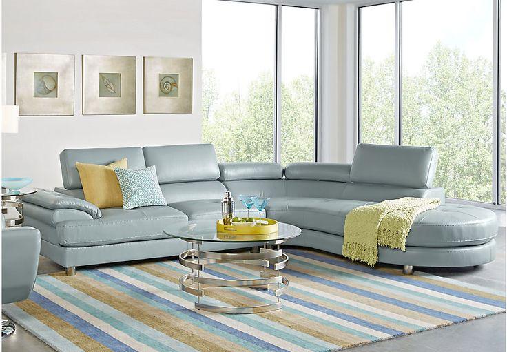 Sofia Vergara Cassinella Hydra 2 Pc Sectional-Living Room Sets (Blue)