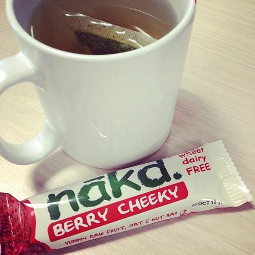 Green Tea && Nakd Bar - Snack time at work! (at eyelinerandginger.tumblr.com)