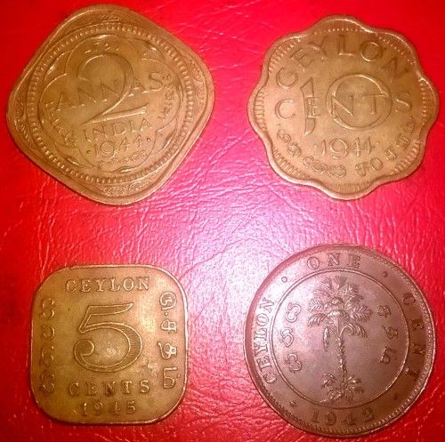 Buy British - India / Ceylon WWII Era Circulated Coinsfor R80.00