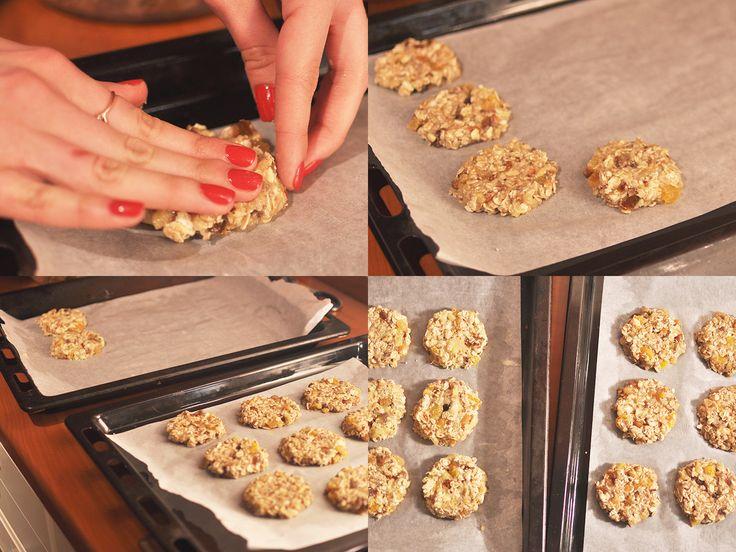 """Приготовление овсяного печенья с сухофруктами без сахара, муки, яиц. Рецепт """"Вего-энерго"""" от Маши Голуб. https://www.1cook.co/ru/blog/vego-jenergo/"""