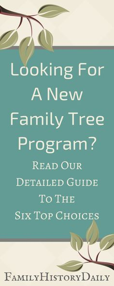 Looking for the best family tree program? Our quick comparison chart + detailed guide to the top tree software will help you choose the right one. #familytree #genealogyresearch #ancestry #familyhistory #genealogydna