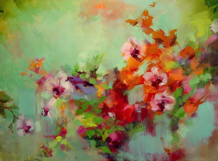 25 best ideas about abstract flowers on pinterest for Oil painting abstract ideas