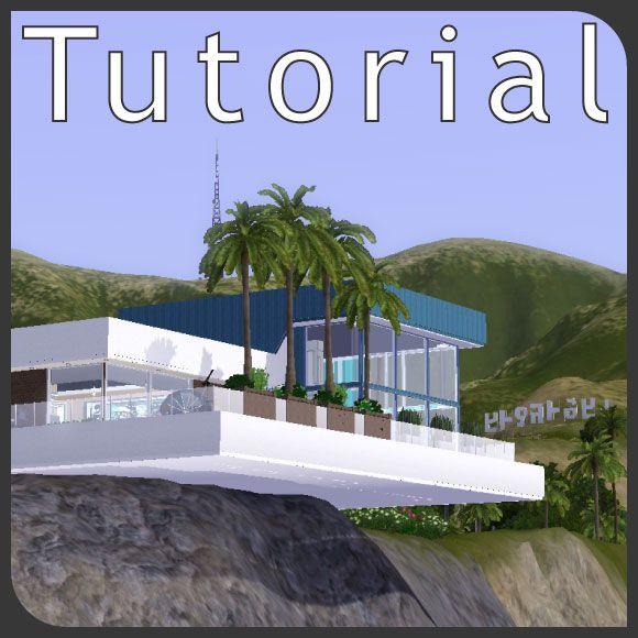 Sims-3-Cours-Hanggrundstuecke-Schwebendes-Haus Sims Logement - sims 3 wohnzimmer modern