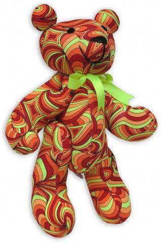 Teddy Bear : Fire Splash  Techno Teddy. The Space Tribe teddy bear !  Approximately 36 cm tall.  UV Active !