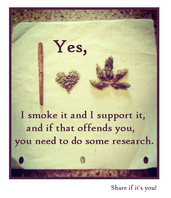 support marijuana