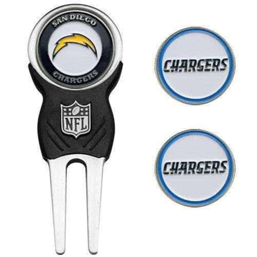 NFL San Diego Chargers NFL Divot Tool  Ball Marker Set *** More info could be found at the image url.