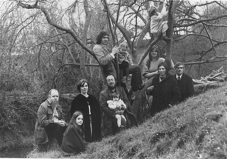 The Brotherhood of Ruralists (1976) at Peter Blake's house in Wellow, Somerset.