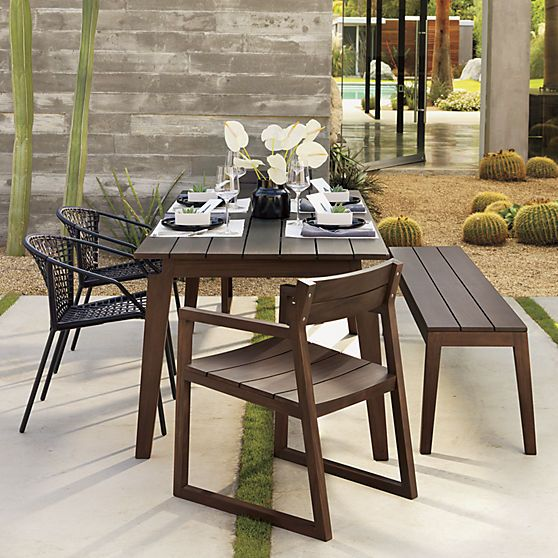 30 best images about Garden Ideas on Pinterest Dining  : 1039c6cf5e248446e7a73db415f552a5 black dining chairs dining bench from www.pinterest.com size 558 x 558 jpeg 70kB