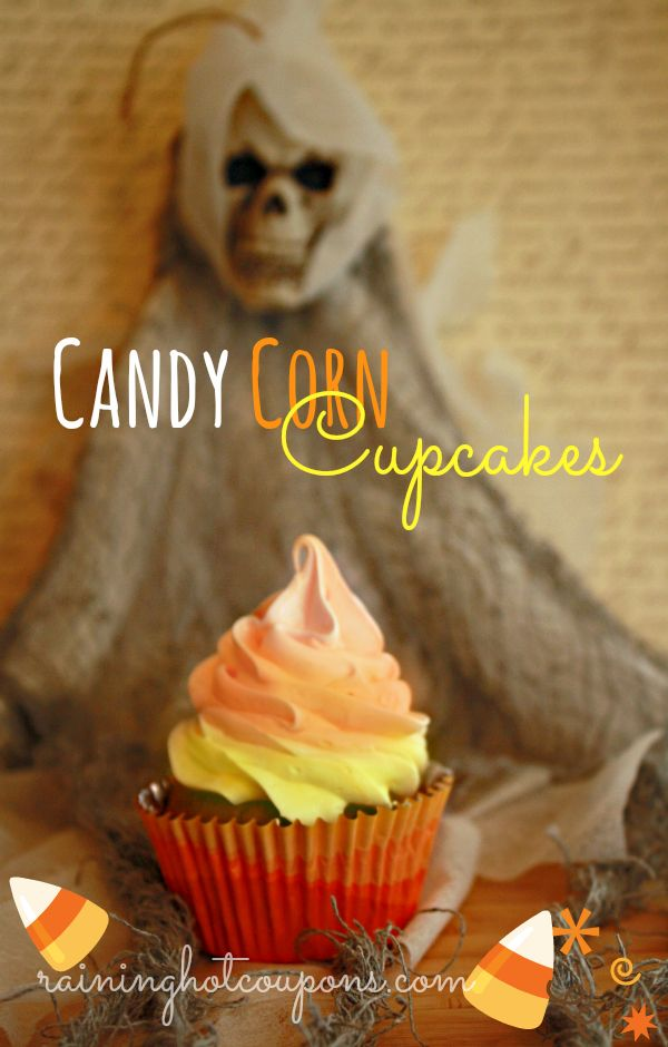 candy corn cupcakes Candy Corn Cupcakes Recipe for Halloween