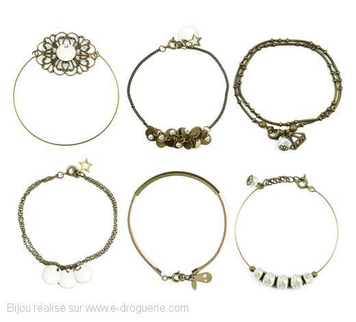 """Bracelets """"ce soir, on sort"""", à réaliser soit même, sur le site la e-Droguerie"""