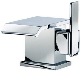 waterfall  basin faucet with click-clack waste (chrome). - kbbusa.com