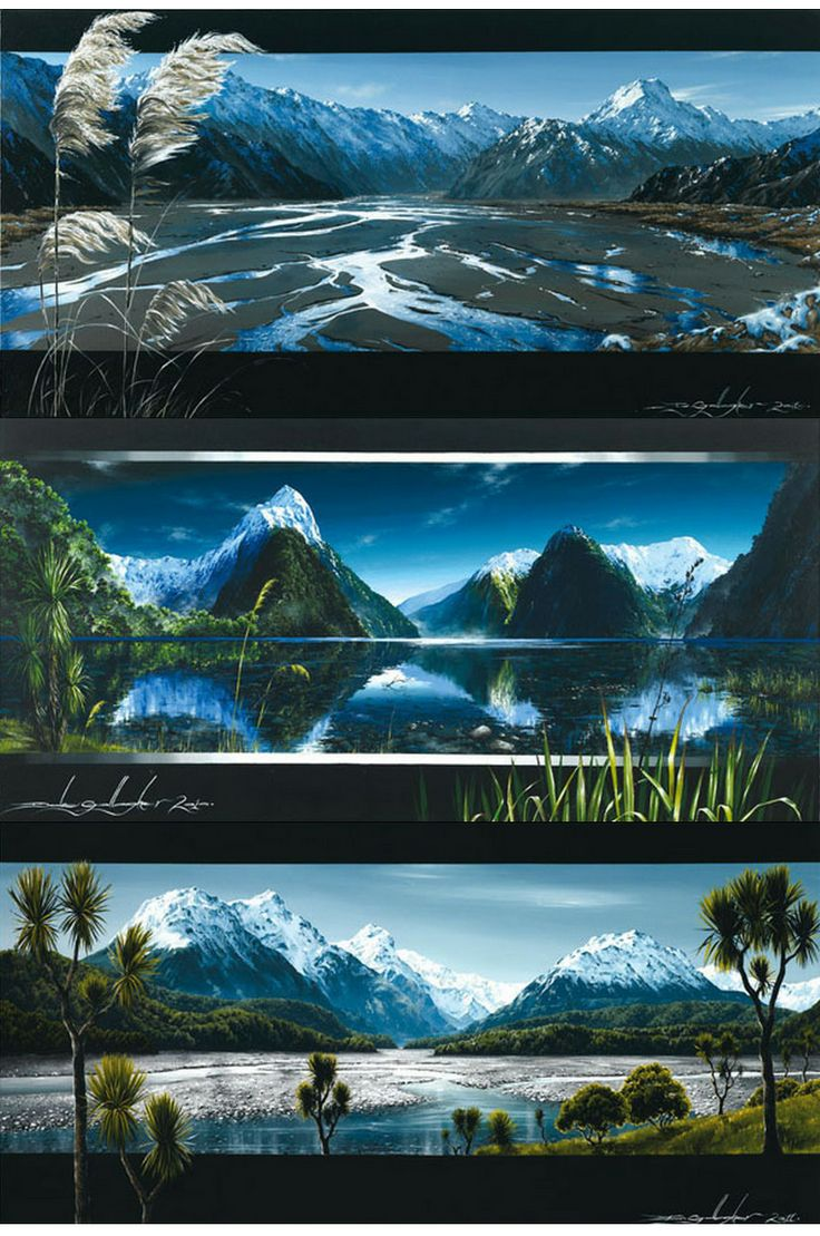 Classic New Zealand landscapes by Christchurch artist Dale Gallagher - imagevault.co.nz
