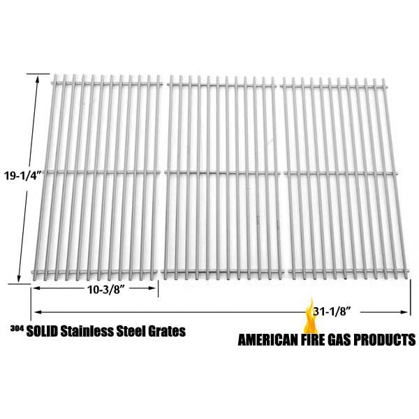 3 PACK STAINLESS STEEL COOKING GRID REPLACEMENT FOR SELECT GAS GRILL MODELS BY KENMORE 122.16648900, 16648, JENN-AIR, BRINKMANN, CHARMGLOW 720-0396, 720-0536, 720-0578 AND OTHERS Fits Compatible Costco Models : Costco 720-0008-LP, Costco 720-0021-LP, Costco 720-0108, Costco 720-0193, Costco 720-0432, Costco CS892LP Read More @http://www.grillpartszone.com/shopexd.asp?id=34714&sid=22358