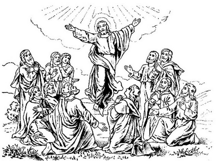 Jesus Christ Ascension Coloring Pages And Line Art Drawing Images