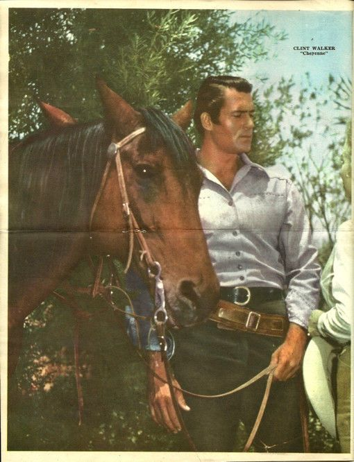 Canal TV Guide Poster Cheyenne Clint Walker Western Argentina Spanish 1960s   eBay