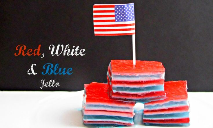 Red White and Blue Jello from Walmart Mom Jenn