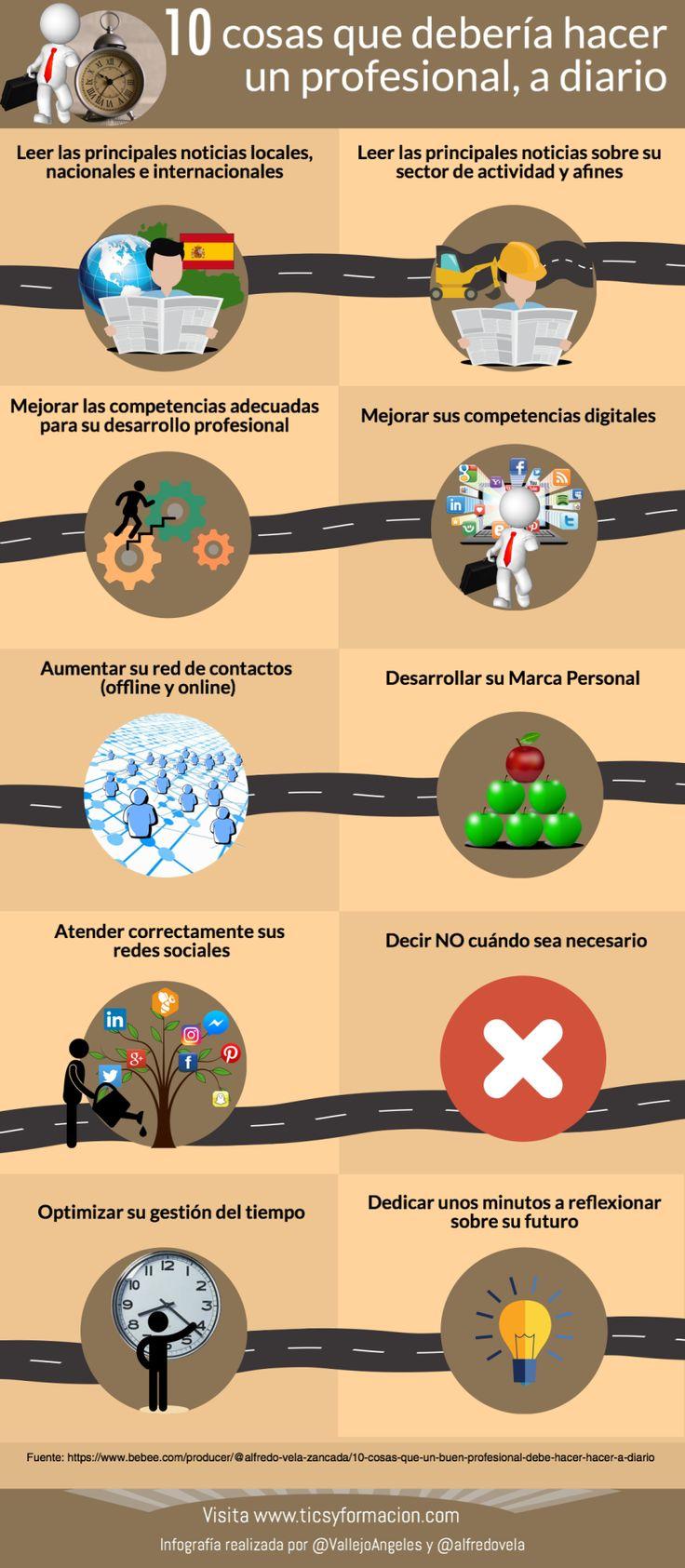 10 cosas que un buen Profesional debe hacer hacer a diario #infografia