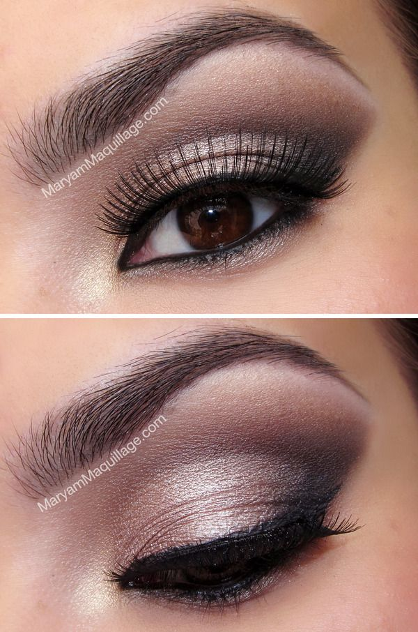 Smokey eye on brown eye
