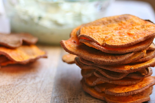 sweet potato chips (baked not fried) #paleo #vegan #healthy
