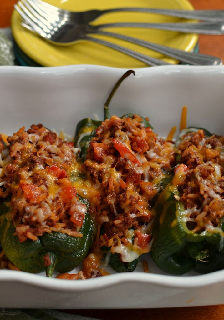 Stuffed Poblano Peppers Recipe Stuffed Peppers Chorizo Recipes Dinner Chorizo Recipes