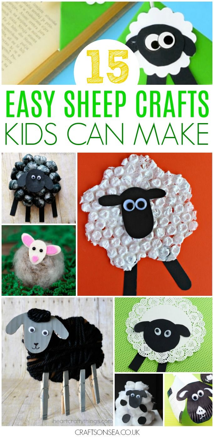 A roundup of the cutest sheep crafts for spring, Easter or a farm animal unit! Prefect for preschool or kindergarten kids this spring! #sheepcrafts #springcrafts